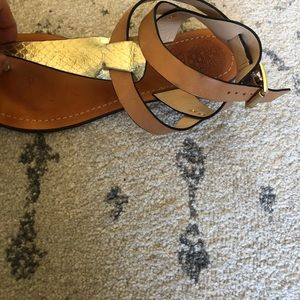 Vince Camuto Shoes - Vince Camuto Gold/Tan gladiator sandals-size 7.5